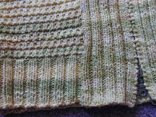 Phildar Zipped Cardigan Close-Up 2