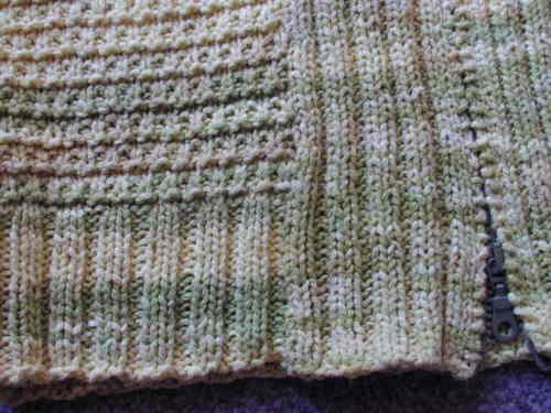 Phildar Zipped Cardigan Close-Up 2
